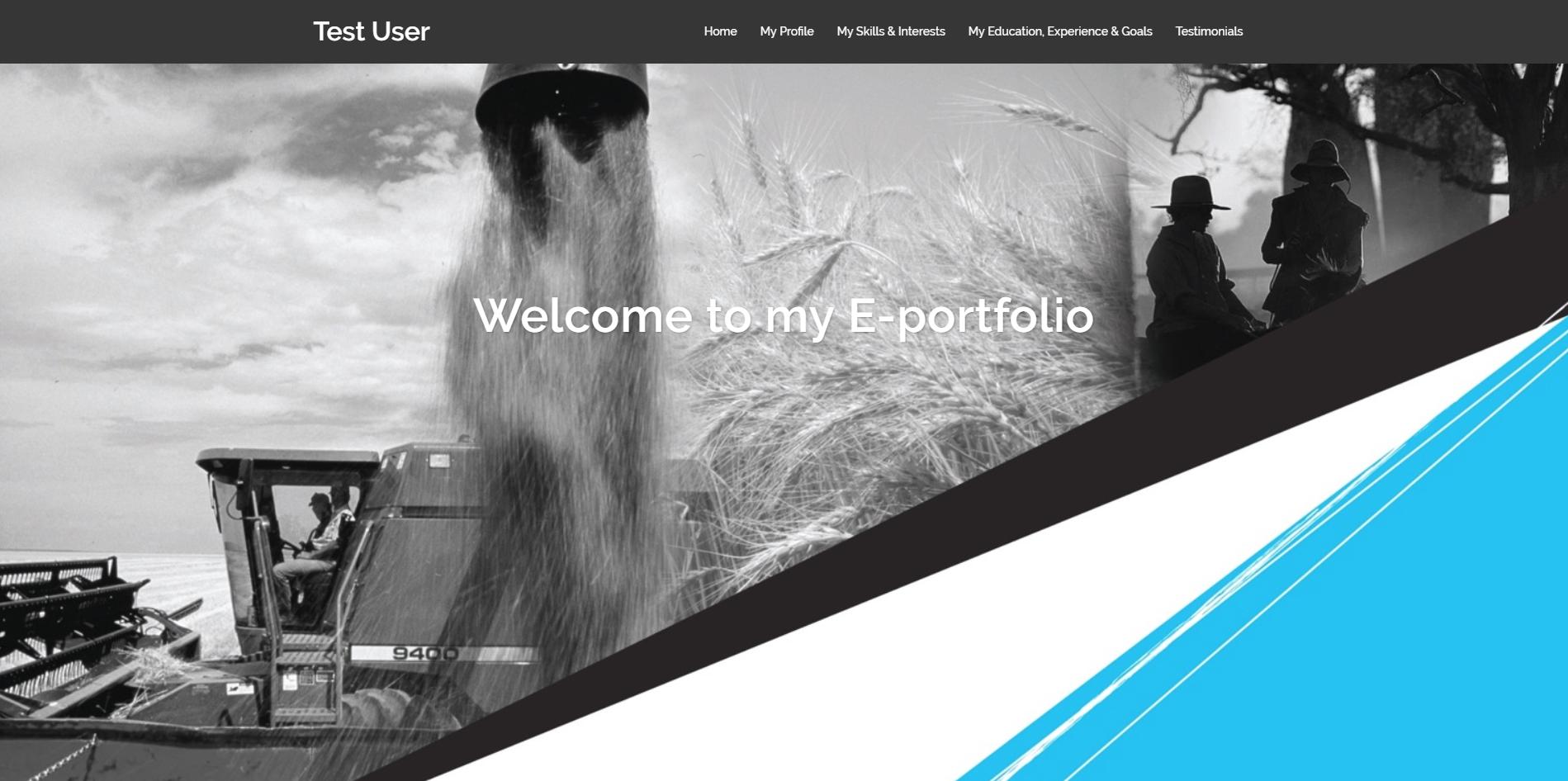 See example e-portfolio